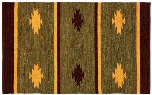 トクラ 玄関マット インド綿 天然素材 グリーン 約50×80cm ACD-511