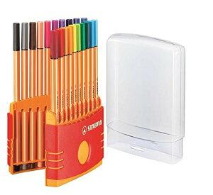 STABILO 水性ペン ポイント88 カラーパレード 20色 8820-03
