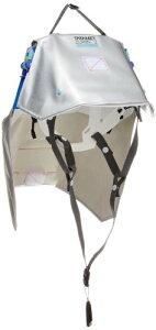 イエロー タタメットズキン2 折りたたみ式ヘルメット内蔵型防災ずきん