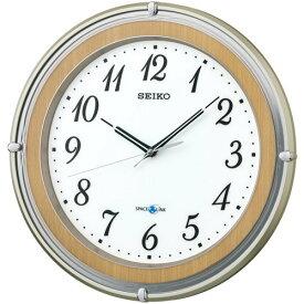 SEIKO CLOCK(セイコークロック) 衛星電波時計 SPACE LINK(スペースリンク)掛時計(薄茶) GP206B