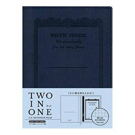 アピカ ノートカバー CDノートブックウェア CDV180-NV ネイビー B6