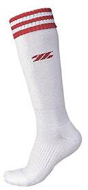 ZETT(ゼット) ソフトボール アンダーソックス BK1370LA ホワイト/レッド 25-27cm