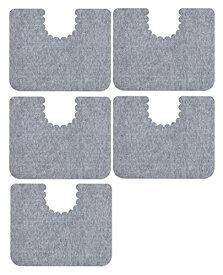 サンコー ズレないトイレマット おくだけ吸着 床汚れ防止マット5枚組 グレー KH-16
