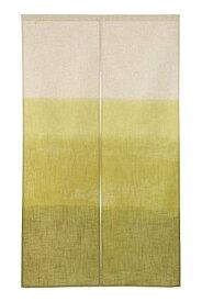 narumikk 和風のれん 日本製 段ぼかし 緑 150cm丈 17-604
