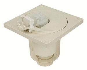 小型洗濯機防水パン プッチエンデバー(本体のみ) 寸法:W200×D200×H43(mm) 色:アイボリーホワイト 材質:PP樹脂