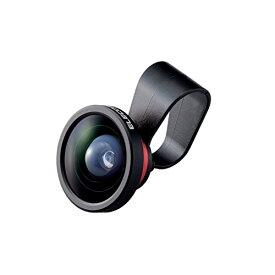 ELECOM iPhone Android対応 スマートフォン用カメラレンズ セルカレンズ 自撮り 0.4倍広角レンズ スーパーワイド レッド P-SL04RD