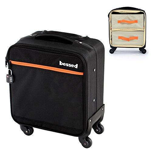 bessed (ビセッド) 美容師クローゼットスーツケース BET-04BKXS 容量約20L 機内持込み可 TSAロック