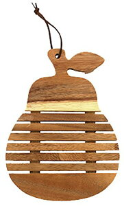 鍋敷き アカシア 洋梨 木製 ダイカット すのこ状 45076127