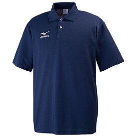 (ミズノ)MIZUNO トレーニングウェア ポロシャツ [ユニセックス] 32JA6195 14 ネイビー×ホワイト S