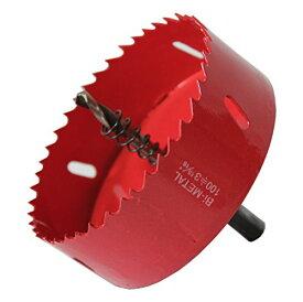 エムジーフィールド(MG FIELD) HSS バイメタル ホールソー 大型 ドリル ビット 穴あけ 100ミリ