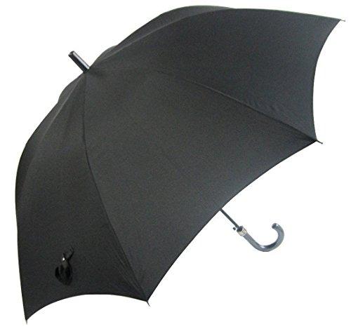 丈夫な耐風骨 ひっくり返っても元通り 撥水効果の高いデュポン社のテフロン加工生地 雨をしっかりガードする直径130cm L L サイズ 75cm ジャンプ傘 (黒)