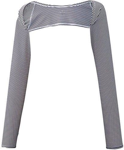 パラディーゾ(PARADISO) レディース テニス UVケア ショルダーアームカバー 56CL3U 紺×白(NW) M