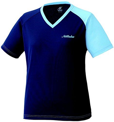 ニッタク(Nittaku) レディース 卓球 VNT Tシャツ NX2079 ネイビー×ブルー(01) M