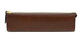スリップオン ファスナーペンケース AZ 革 ダークブラウン IAZ-3902