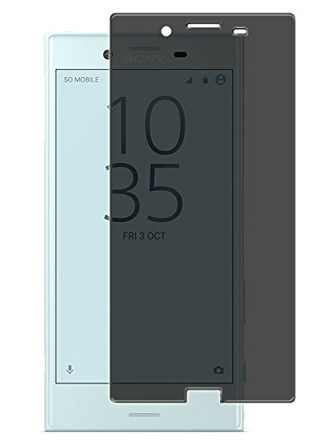 【RIRIYA】ソニー Sony Xperia X Compact SO-02J docomo専用 のぞき見防止シール 指紋防止 気泡が消える液晶保護フィルム 「522-0089-02」