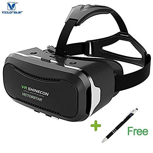 VICTORSTAR @ 3D VR ゴーグル SHINECON + タッチペン / 3D VR メガネ/ 3D VR ボックス / 超3D映像効果レンズを採用 3.5- 6.0インチのスマートフォンに適用 (Shinecon-2代)