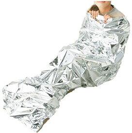 非常用 簡易 寝袋 アルミ あったかい寝 呼子笛付 140851