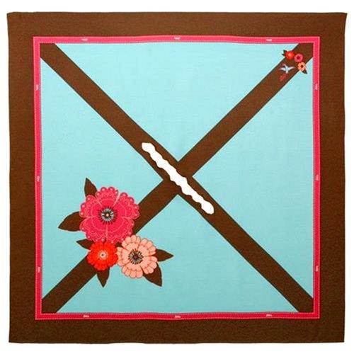 ベッタ (Betta) 授乳用スカーフ・モダンフラワー ブラウン