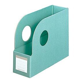 プラス ボックスファイル ワイドオープン A4横 背幅100mm 83-533 グレーン
