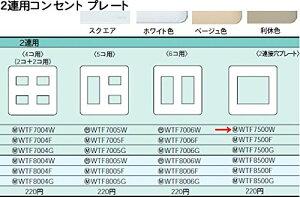 パナソニック電工配線器具(Panasonic) コンセントプレート WTF7500W