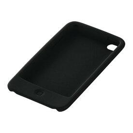 iBUFFALO iPodtouch2010年シリコンケース保護フィルム付 ブラック BSIP10T01CBK