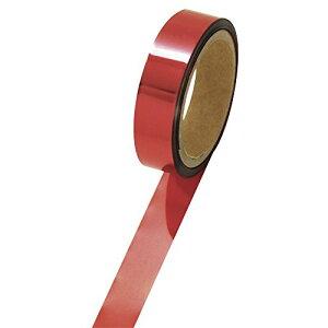 タカ印 メッキテープ パーソナルタイプ40-4486赤 1個