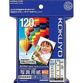 コクヨ インクジェット 写真用紙 印画紙原紙 高光沢 L判 120枚 KJ-D12L-120[un]