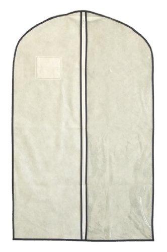 エーワン 1/2透明タイプ センターファスナーカバー スーツ・ジャケット用 (3枚入り) KS176