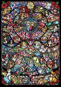 1000ピース ジグソーパズル ディズニーディズニー ピクサー ヒロインコレクション ステンドグラス【ピュアホワイト】(51x73.5cm)[un]