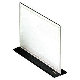 タカ印 卓上メニュー立 34-2920 T型 大 透明 ペット樹脂