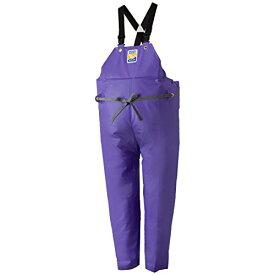 マリンエクセル(MARINE EXCELL) 産業用レインウェア 胸当付ズボン膝当て付(サスペンダー式) 12063930 パープル 3L[un]