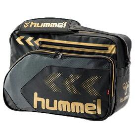 ヒュンメル hummel プレミアムショルダーバッグ L hfb3111 ブラック×ゴールド