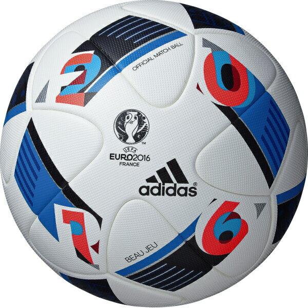 アディダス adidas UEFA EURO2016 公式試合球 ボー ジュ サッカーボール5号球 芝用 af5150