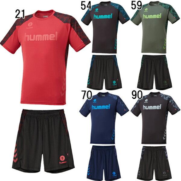 サッカープラクティスシャツ メンズ ヒュンメル hummel ドライTシャツ ハーフパンツセット hay2083 hay6013hp