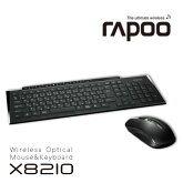 RapooX82102.4GHzワイヤレスキーボード・マウスコンボ