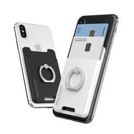 【ユニークはAAUXX日本正規代理店です】 iRing Pocket2 アイリング ポケット2 カード2枚収納可能!スマホリング スマホ落下防止 セーフティグリップ&ポータブルスタンド UMS-IR03PK