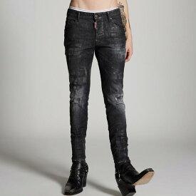 DSQUARED2 ディースクエアード メンズ Black Wax Wash Skater Jeans (S79LA007)スケータージーン ブラック コーティング デニム denim【送料無料・正規品】