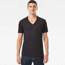 G-STAR RAW ジースターロウ メンズ Base V-Neck T-Shirt 2-Pack ベース半袖 2パック T-シャツ Vネック (D07207-124) スリムフィット [正規品] カジュアル 1点注文のみレターパックプラス発送【返品交換不可】