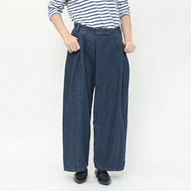 【 タックデニムパンツ 】G'nals ジーナルズ デニム タック バギー パンツ ゆったり 大人 カジュアル デザイン レディース All item pants レディースファッション ユニークポケット 【プレゼント】