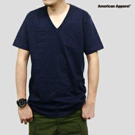 【短納期対応 まとめ買い歓迎 】Tシャツ 無地 Vネック【american Apparel アメリカンアパレル AAPP-T2456 4.3 oz ファインジャージーVネックTシャツ】メンズ レディース ユニセックス アメアパ カジュアル ブラック グレー XS〜XL【10.000円以上 送料無料】