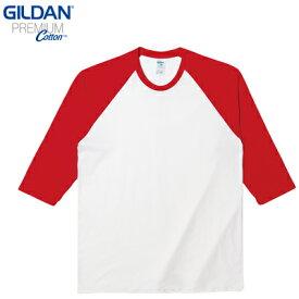 GILDAN (ギルダン)76700 5.3オンス プレミアムコットン 七分袖 ラグランTシャツ
