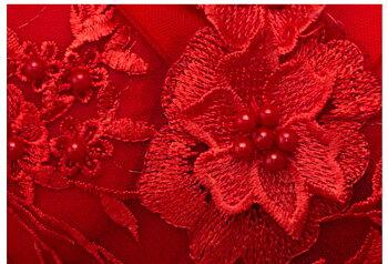 ステージ衣装プリンセスラインドレス演奏会用ドレスカラードレスレッドパーティードレス床まで届く成人式ロングドレスオフショルダー刺繍フォーマルドレス高級感ウエディングドレス赤花嫁二次会結婚式発表会コンサート小きいセミオーダー編み上げ