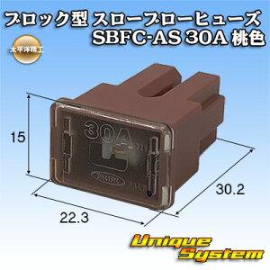太平洋精工 ブロック型 スローブローヒューズ SBFC-AS 30A 桃色 3037