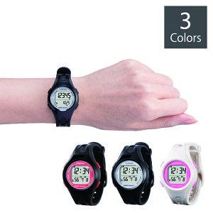 ウォッチ万歩計 DENPA MANPO small TM-450 電波時計搭載!使いやすい腕時計タイプの万歩計 | 万歩計 腕時計 ウォーキング ジョギング 散歩 歩数 歩行 女性 時刻 電波