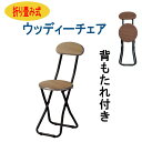 折りたたみ椅子 背もたれ付き 木製 持ち運び ビンテージ レトロ PFC-M17 軽量 コンパクト椅子 チェア イス 飲食店 オフィス 事務所 待合