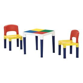 子供 テーブル 付き イス ブロック 100個付き キッズデスクセット ミニ 机 子供椅子 テーブル キッズテーブル キッズデスク ブロック ギフト プレゼント レゴ