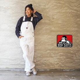 BEN DAVIS ベンデイビス オーバーオール USA製 レディース Painter Overall BDUS-5804 サロペット オールインワン 白 ホワイト ペインター パンツ つなぎ アメカジ ワーク おしゃれ ゆったり ママコーデ ブラン メンズ