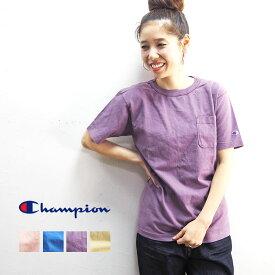 【メール便可】champion チャンピオン tシャツ ポケットTシャツ C5-P305 レディース 半袖 USA製 無地 ヘビーウエイト ポケット ポケT 半袖Tシャツ Tシャツ ヴィンテージ ウォッシュ シンプル アメカジ アメリカ おしゃれ 大人 紫 ピンク イエロー ブルー メンズ