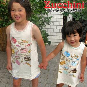 Zucchini ズッキーニおかしタンクワンピ−ス 2colors (64312-64362) SS14KTGキッズ 新作 夏物 ワンピース お菓子 タンク 女の子 ガーリー ナチュラル 普段着 かわいい 女子 子供 赤ちゃん お出かけ 誕生