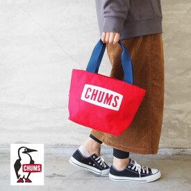 CHUMS チャムス ミニ トート バッグ レディース Eco CHUMS Logo Mini Tote Bag CH60-2902 エコ トートバッグ レッド 赤 ロゴ エコバッグ ミニトート ランチバッグ かわいい アウトドア おしゃれ ランチトート ハンドバッグ サブバッグ キャンプ メンズ